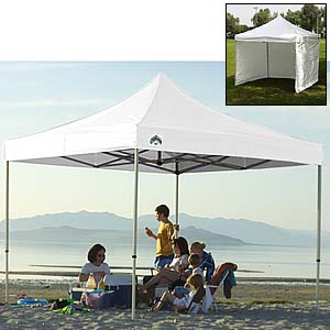 Caravan pop up canopies portable shelter ez up for Used craft fair tents