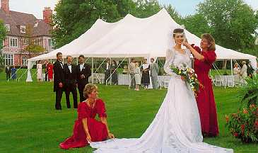 "PHOTO:  Eureka Elite Party Tent  ""...high peak wedding tent rental ..."""