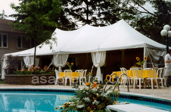 20 X 40 Party Tent on Pool deck