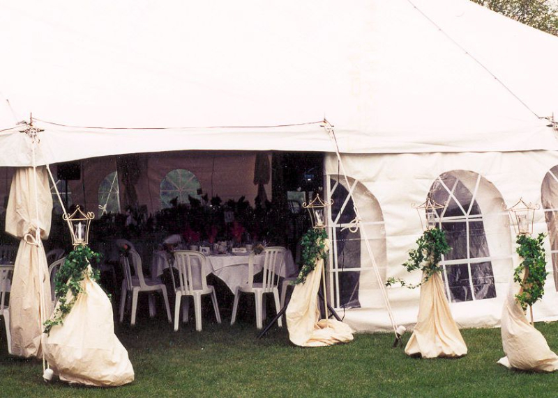 Wedding Tent Decor by ASAP Tent and Party Rentals