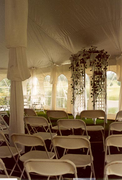 Ceremony Interior 30' X 40 Tent Rental